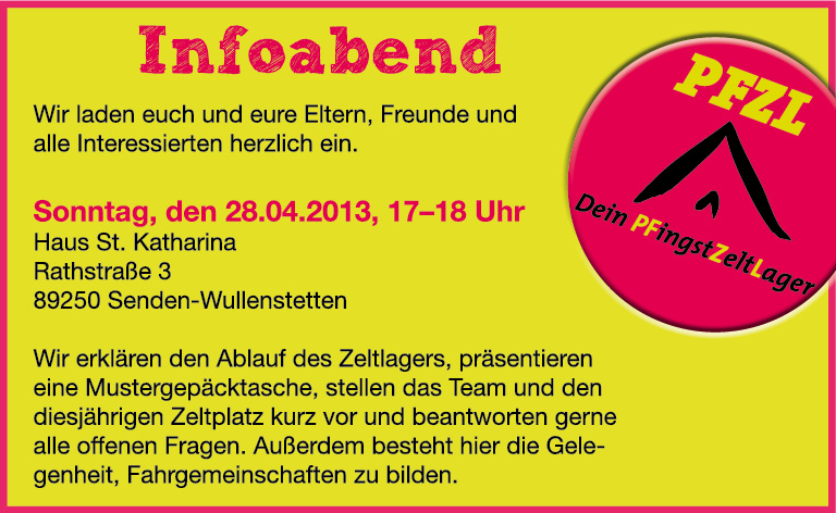 Infoabend 2013